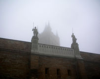 Hohenzollern castle in Swabian during autumn, Germany. Castle in the mist Royalty Free Stock Photo