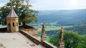 The Hohenzollern Castle stock video footage