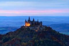Hohenzollern kasztel, Niemcy Obrazy Stock