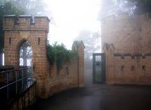 Hohenzollern-Schloss auf Schwaben während des Herbstes, Deutschland Lizenzfreie Stockbilder
