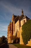 Hohenzollern Schloss auf Schwaben während des Herbstes Lizenzfreie Stockbilder