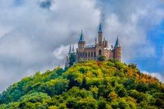 hohenzollern slott royaltyfri foto