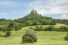 Hohenzollern slott i Baden-Wurttemberg, Tyskland Arkivfoto