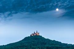 Hohenzollern slott i Baden-Wurttemberg, Tyskland Fotografering för Bildbyråer