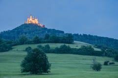 Hohenzollern slott i Baden-Wurttemberg, Tyskland Royaltyfria Foton