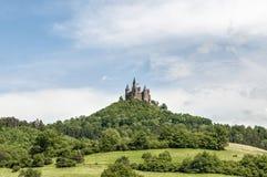 Hohenzollern slott i Baden-Wurttemberg, Tyskland Arkivbilder