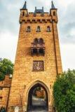 Hohenzollern slott i den svarta skogen, Tyskland royaltyfri fotografi