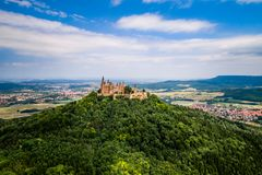 Hohenzollern slott, Tyskland Arkivfoton