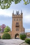 Hohenzollern slott, Tyskland Arkivfoto