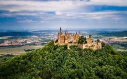 Hohenzollern slott, Tyskland Royaltyfri Fotografi