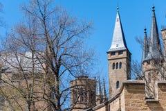 Hohenzollern slott, Tyskland - April 30, 2017, Hohenzollern Ca Arkivbilder