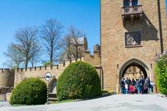 Hohenzollern slott, Tyskland - April 30, 2017, Hohenzollern Ca Royaltyfria Bilder
