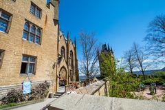 Hohenzollern slott, Tyskland - April 30, 2017, Hohenzollern Ca Arkivfoto