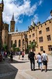 Hohenzollern slott, Tyskland - Juni 24, 2017: Hohenzollern Castl Royaltyfri Bild