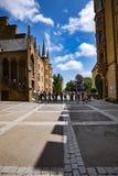 Hohenzollern slott, Tyskland - Juni 24, 2017: Hohenzollern Castl Royaltyfri Foto