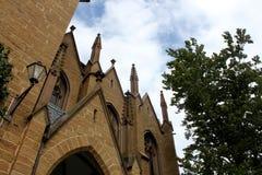 Hohenzollern Tyskland Juli 21st 2016 - Hohenzollern slott på en solig dag i Tyskland Arkivbilder