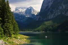 Hoher alpiner See Gossau, Österreich Stockfotografie