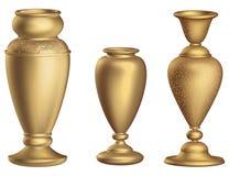 Hoher Bodenvase antiker Bronzevase 3D Weinlese mit goldener Wiedergabe der Verzierungen 3d Lizenzfreie Stockbilder