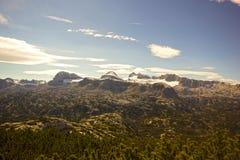 Hoher Dachstein с ледником Стоковые Фото