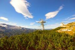 Hoher Dachstein с лыжным курортом Стоковая Фотография RF
