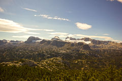 Hoher Dachstein with glacier Stock Photos