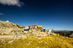 Hoher Dachstein with Ski resort Stock Images
