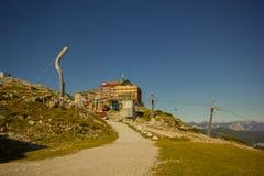 Hoher Dachstein with Ski resort Stock Photo