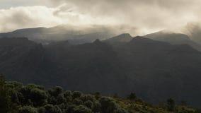 Hoher Gebirgswolken timelapse in den Anden stock video