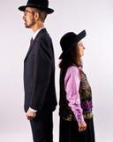 Hoher Mann und kurze Frau Stockbilder
