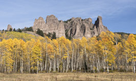 Hoher Mesa Pinnacles im Herbst Stockfotografie