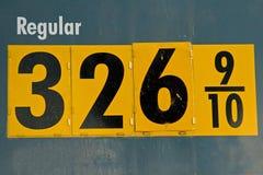 Hoher Preis des Benzins Lizenzfreies Stockfoto