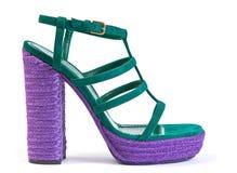 Hoher Schuh der Frau stockfoto