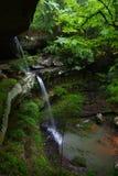 Hoher Wasserfall - Alabama Stockbild