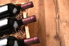 Hoher Winkel-Wein-Kiste stockfotografie