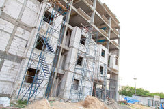 Hohes Anstieggebäude, das steigt Stockfoto