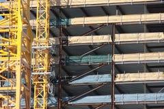 Hohes Anstieggebäude, das steigt Stockbild