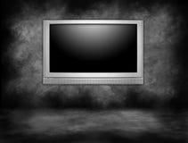Hohes Definitions-Plasma-Fernsehen-Hängen stockbilder