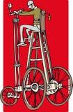 Hohes Fahrrad Stockfotografie