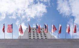 Hohes Gebäude des Wolkenkratzers von Rathaus in Los Angeles Stockfotos