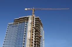 Hohes Gebäude im Bau Lizenzfreies Stockfoto