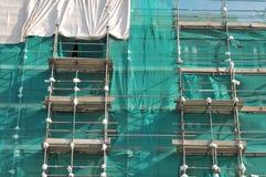 Hohes Gebäude im Baugerüst Lizenzfreies Stockbild