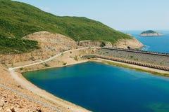 Hohes Insel-Reservoir in Hong Kong Global Geo Park von China in Hong Kong, China lizenzfreies stockbild