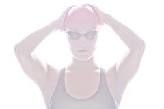 Hohes Schlüsselbild des Schwimmers Lizenzfreie Stockfotos