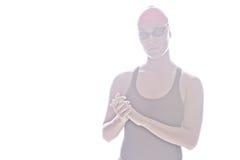 Hohes Schlüsselbild des Schwimmers Lizenzfreies Stockfoto