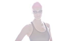 Hohes Schlüsselbild des Schwimmers Stockfotos