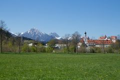 Hohes Schloss FÃ ¼ ssen, Niemcy Obraz Royalty Free