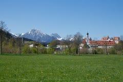 Hohes Schloss FÃ ¼ ssen, Tyskland Royaltyfri Bild