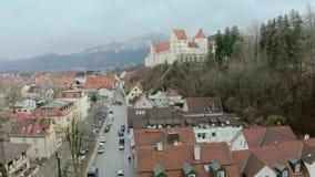 Hohes Schloss Fussen video estoque