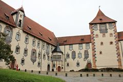 Hohes Schloss Fussen - interiour court Stock Photography