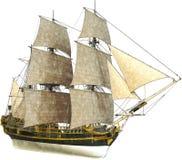 Hohes Segelschiff, Verkäufe, lokalisiert stockbilder